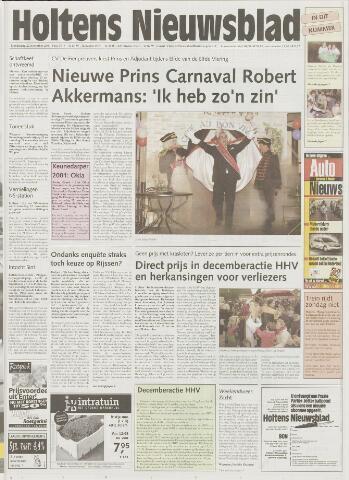 Holtens Nieuwsblad 2001-11-22