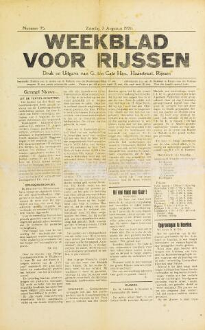 Weekblad voor Rijssen 1920-08-07