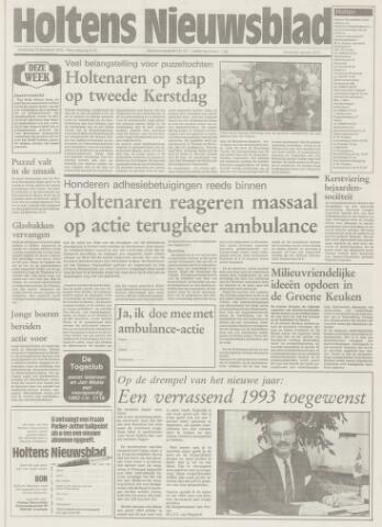 Holtens Nieuwsblad 1992-12-31