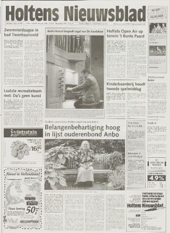 Holtens Nieuwsblad 2001-08-09