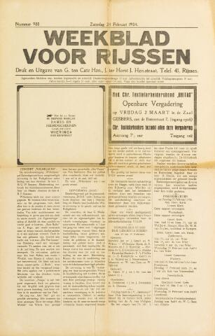 Weekblad voor Rijssen 1934-02-24