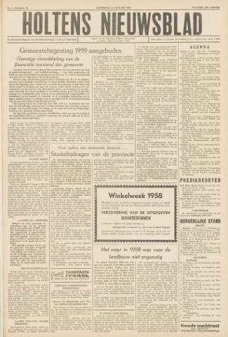 Holtens Nieuwsblad 1959-01-10
