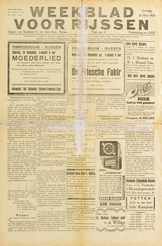 Weekblad voor Rijssen 1938-11-26