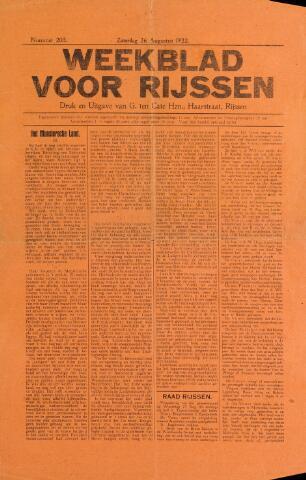 Weekblad voor Rijssen 1922-08-26