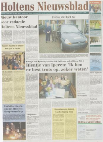 Holtens Nieuwsblad 2004-01-08