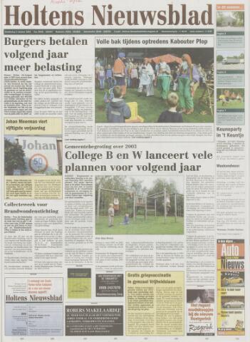 Holtens Nieuwsblad 2002-10-03