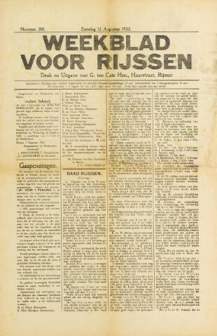 Weekblad voor Rijssen 1922-08-12