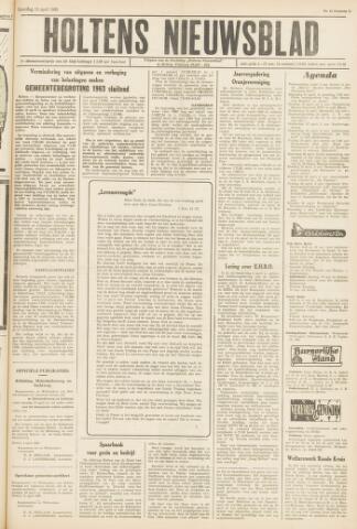 Holtens Nieuwsblad 1963-04-13