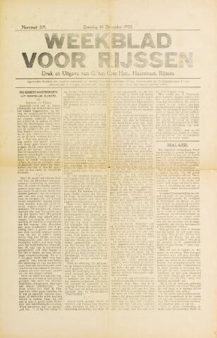 Weekblad voor Rijssen 1922-12-16
