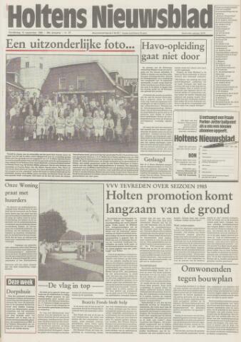 Holtens Nieuwsblad 1985-09-12
