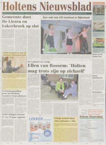 Holtens Nieuwsblad 2005-04-14