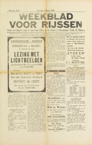 Weekblad voor Rijssen 1930-03-01