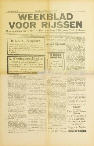 Weekblad voor Rijssen 1928-09-22