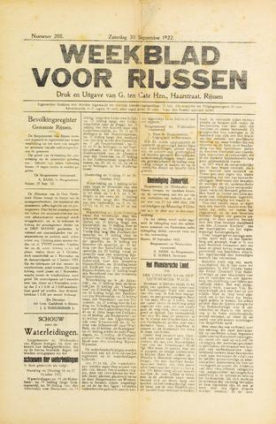 Weekblad voor Rijssen 1922-09-30