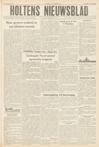 Holtens Nieuwsblad 1958-11-01