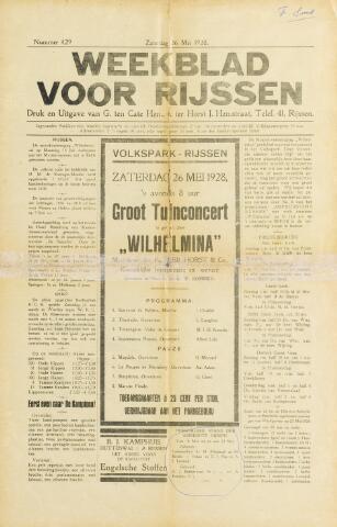 Weekblad voor Rijssen 1928-05-26