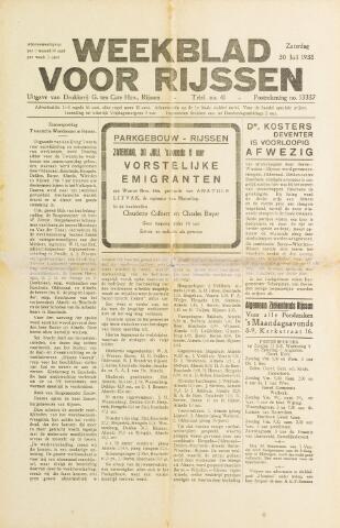 Weekblad voor Rijssen 1938-07-30