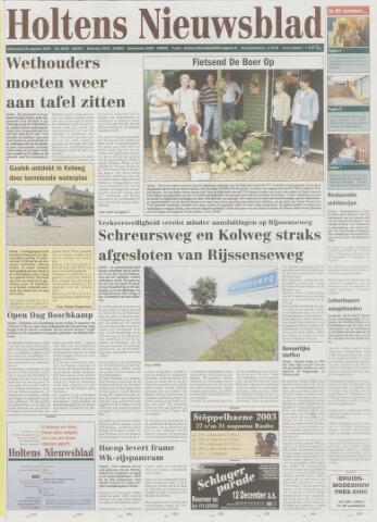Holtens Nieuwsblad 2003-08-28