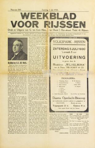 Weekblad voor Rijssen 1930-07-05