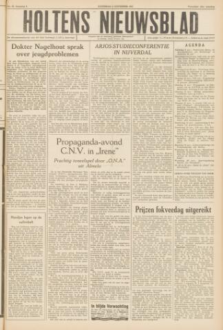 Holtens Nieuwsblad 1957-11-09