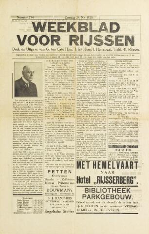 Weekblad voor Rijssen 1930-05-24