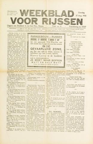 Weekblad voor Rijssen 1938-08-27