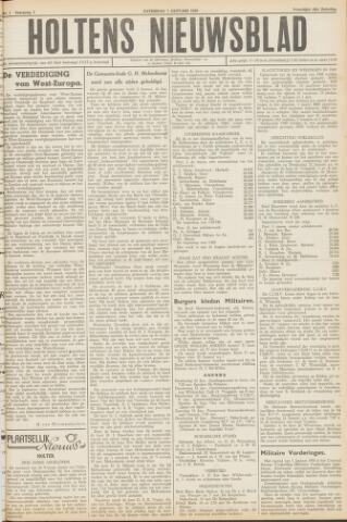 Holtens Nieuwsblad 1950-01-07