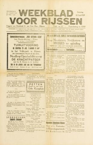 Weekblad voor Rijssen 1939-07-22