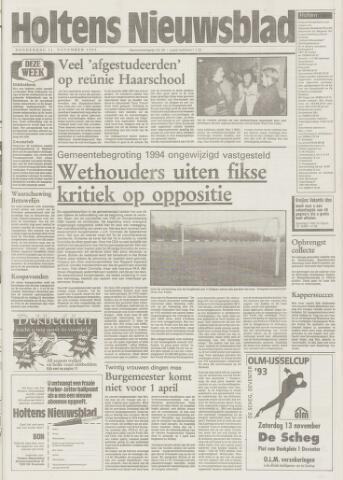 Holtens Nieuwsblad 1993-11-11