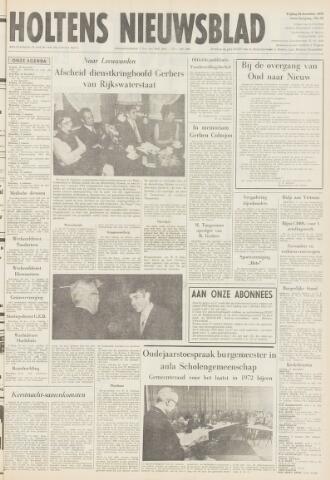Holtens Nieuwsblad 1972-12-29