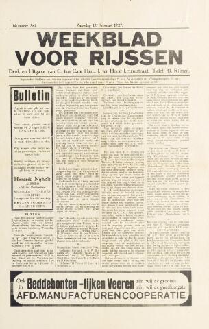 Weekblad voor Rijssen 1927-02-12