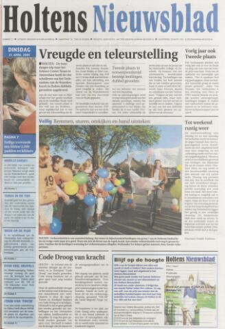 Holtens Nieuwsblad 2009-04-21