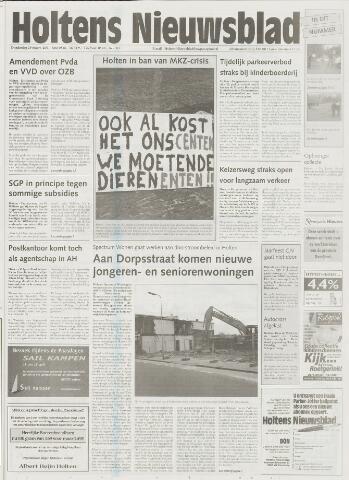 Holtens Nieuwsblad 2001-03-29