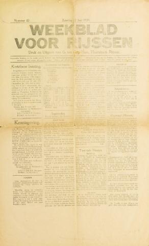 Weekblad voor Rijssen 1920-06-12