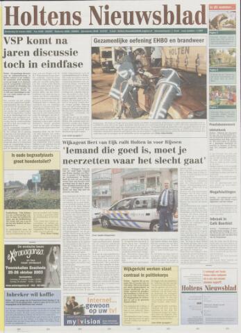 Holtens Nieuwsblad 2003-10-23
