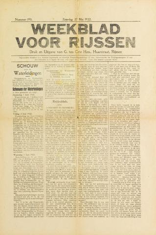 Weekblad voor Rijssen 1922-05-27
