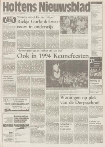 Holtens Nieuwsblad 1993-09-16