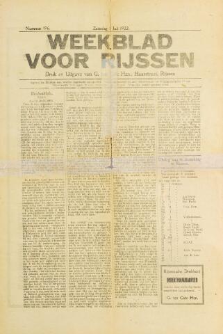 Weekblad voor Rijssen 1922-07-08