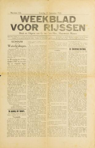 Weekblad voor Rijssen 1920-09-25