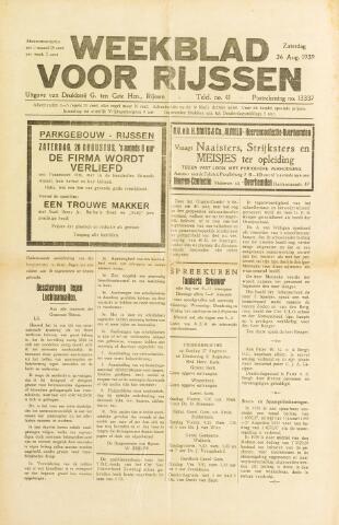 Weekblad voor Rijssen 1939-08-26