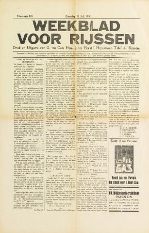 Weekblad voor Rijssen 1930-07-12