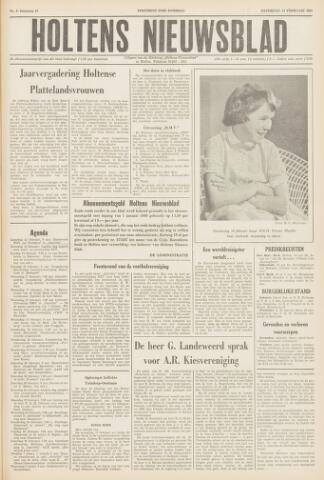 Holtens Nieuwsblad 1960-02-13