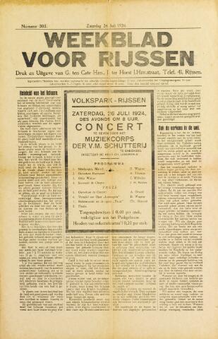 Weekblad voor Rijssen 1924-07-26