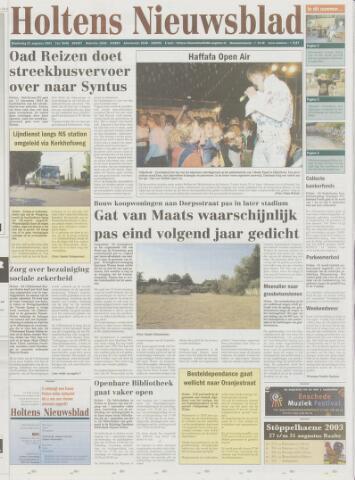 Holtens Nieuwsblad 2003-08-21
