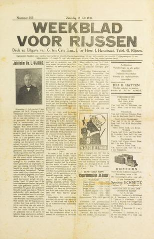 Weekblad voor Rijssen 1931-07-18