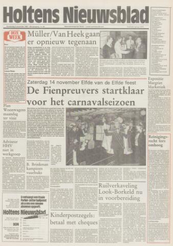 Holtens Nieuwsblad 1987-11-05