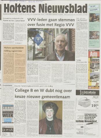 Holtens Nieuwsblad 2001-11-08