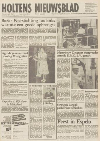 Holtens Nieuwsblad 1983-08-25