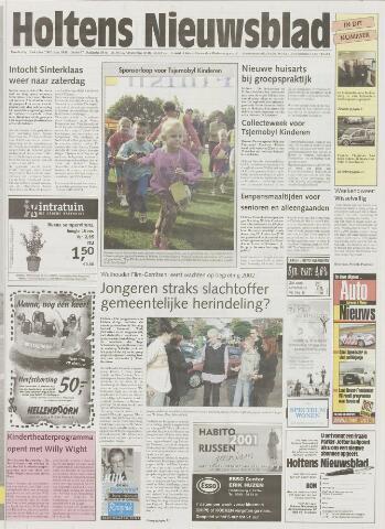 Holtens Nieuwsblad 2001-10-18
