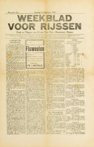 Weekblad voor Rijssen 1922-09-16